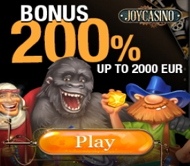 200% up to 2000 Euro Welcome Bonus Deposit at Joy Casino